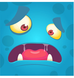 cartoon angry monster face avatar vector image