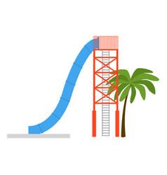 cartoon aquapark playground element for child vector image