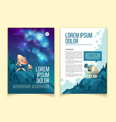 cartoon template of astronomy brochure vector image