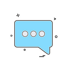 Chat popup sms icon design vector
