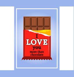 Chocolate valentine greeting card vector