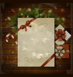 christmas background wish list vector image