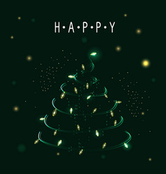 christmas tree symbol of happy new year vector image