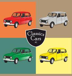 classic car renault 4 vector image