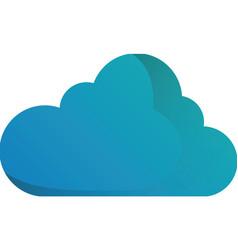 Cloud blue sky shape icon vector