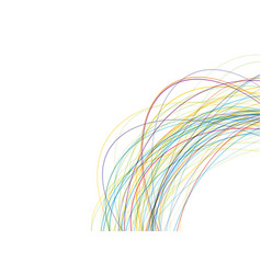 Color interlaced lines on a white background vector