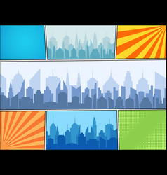 Comic book bright composition vector
