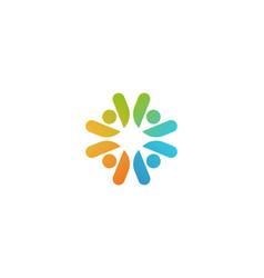 community people company logotype teamwork vector image
