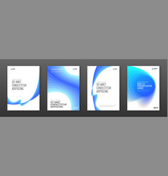 corporate brochure cover design templates set vector image