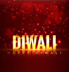 Diwali text background vector