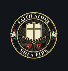 Faith alone vector