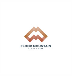 Floor mountain m logo vector