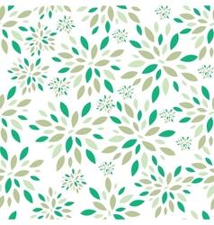 Flower leaves seamless pattern background vector