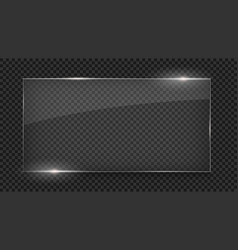 glass plate glass banner glass frame vector image