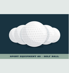 golf balls icon game equipment professional sport vector image