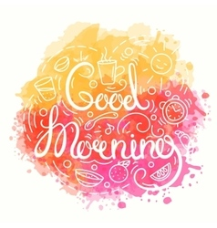 Good Morning Typography Design vector image