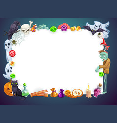 Halloween holiday trick or treat monsters party vector