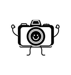 happy camera icon vector image