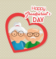 Happy grandparent day card vector