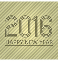 Happy new year 2016 on the striped paper vector