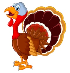 Happy turkey cartoon for your design vector