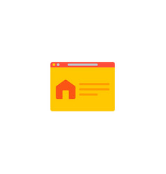 homepage icon flat element of vector image