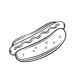 hot dog cartoon icon vector image