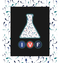 in vitro fertilisation concept vector image