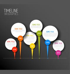 Infographic horizontal dark timeline report vector