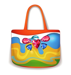 Lady summer holiday hand bag vector image