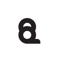 Letter qq simple motion geometric logo vector