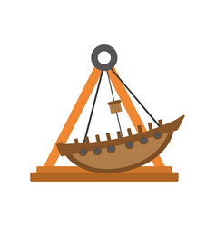 Mechanical ship ride carnival game vector