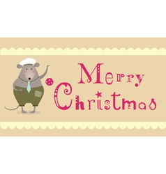 Merry christmas mouse vector