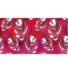 monstera seamless pattern wallpaper background vector image