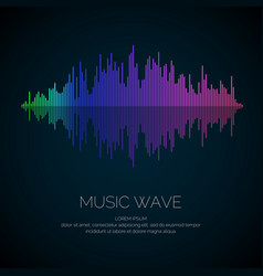 Music wave in the form of vector