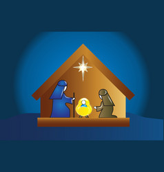 nativity family scene vector image