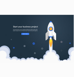 new business project startup concept vector image