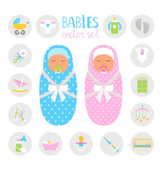newborn color icons vector image