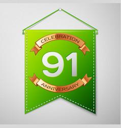 ninety one years anniversary celebration design vector image
