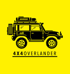 Overland off-road 4x4 vehicle vector