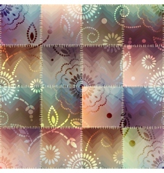 Patchwork with gradient effect vector