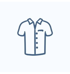 Polo shirt sketch icon vector