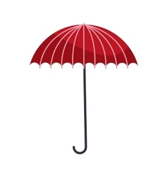 Red umbrella icon vector
