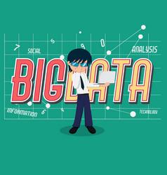 salary man 01 big data vector image