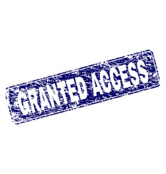 Scratched granted access framed rounded rectangle vector