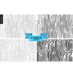 seamless black and white wood pattern vector image