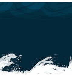 Seamless pattern with waves in the night vector