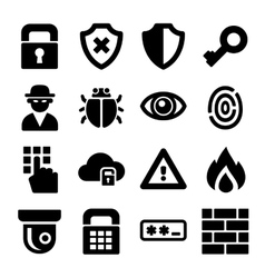 Security Icons Set vector image
