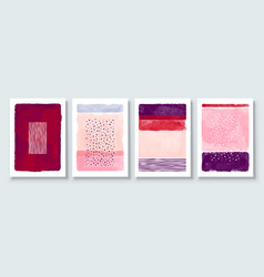 set abstract hand painted vector image