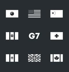set g7 union icons vector image